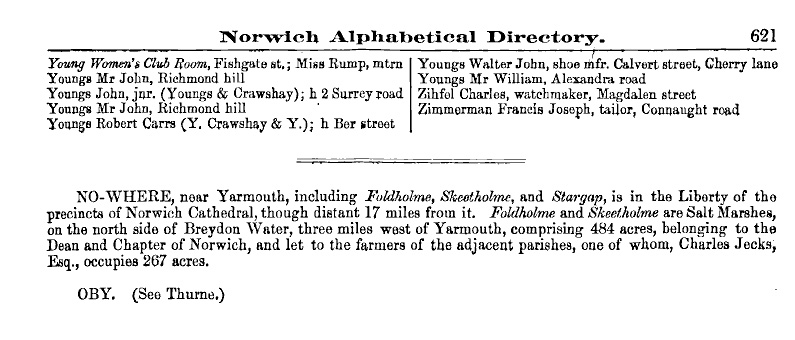 Northfolk Gazetteer, 1890